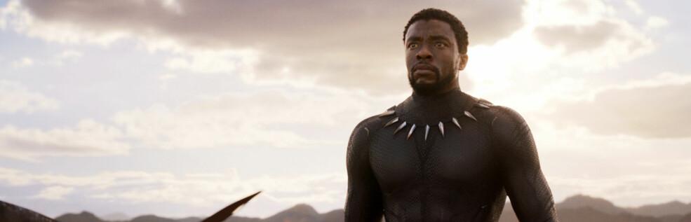NY STORFILM: Chadwick Boseman spiller hovedrollen som karakteren T'Challa i den kommende filmen «Black Panther». FOTO: Scanpix