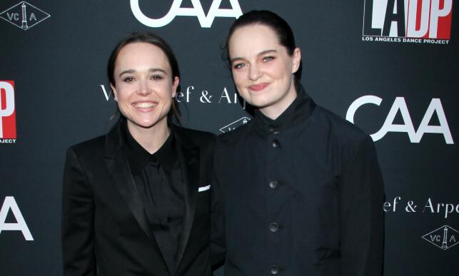 GIFT: Emma og Ellen har giftet seg. Her fra premieren til «Flatliners» i Los Angeles. Foto: Pa Photos, NTB Scanpix