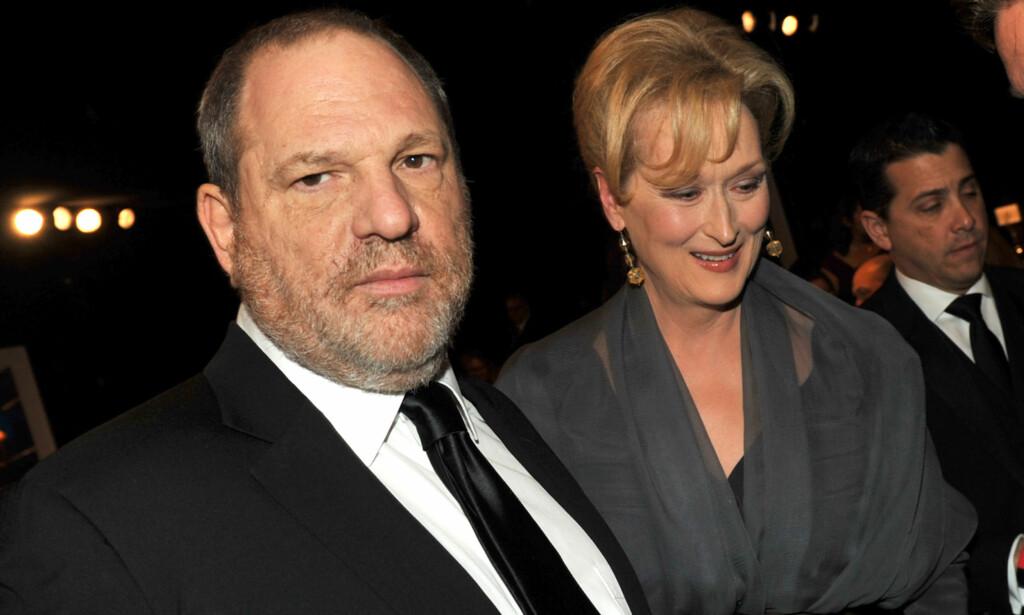 BEKLAGER: Filmprodusenten Harvey Weinstein beklager nå overfor Meryl Streep. Foto: AFP PHOTO / GETTY IMAGES NORTH AMERICA / KEVIN WINTER