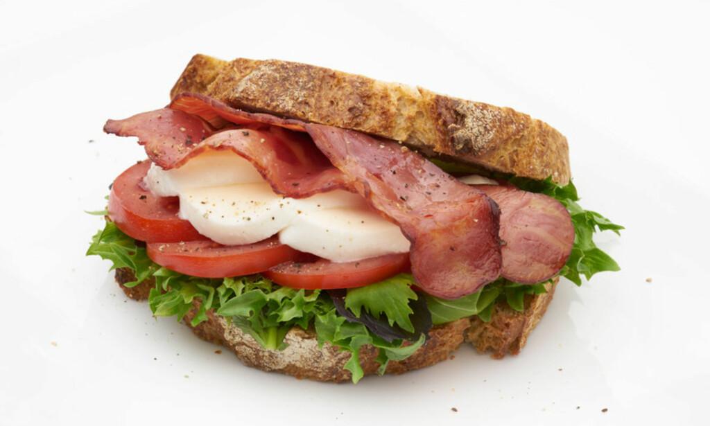 IKKE VANLIG BACON: Mange ønsker å spise proteinrikt, magert og sunt og da er det smart å velge kalkunbacon! Foto: Nortura