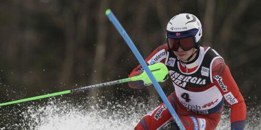 image: Henrik Kristoffersen på skuddhold i Zagreb. 0,59 bak ledende Matt