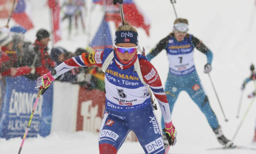 BESTE NORSKE: Ingrid Tandrevold ble beste norske på en svak dag i Tyskland der ingen var innenfor topp 30. Foto: Pierre Teyssot/Soevermedia/REX/Shutterstock