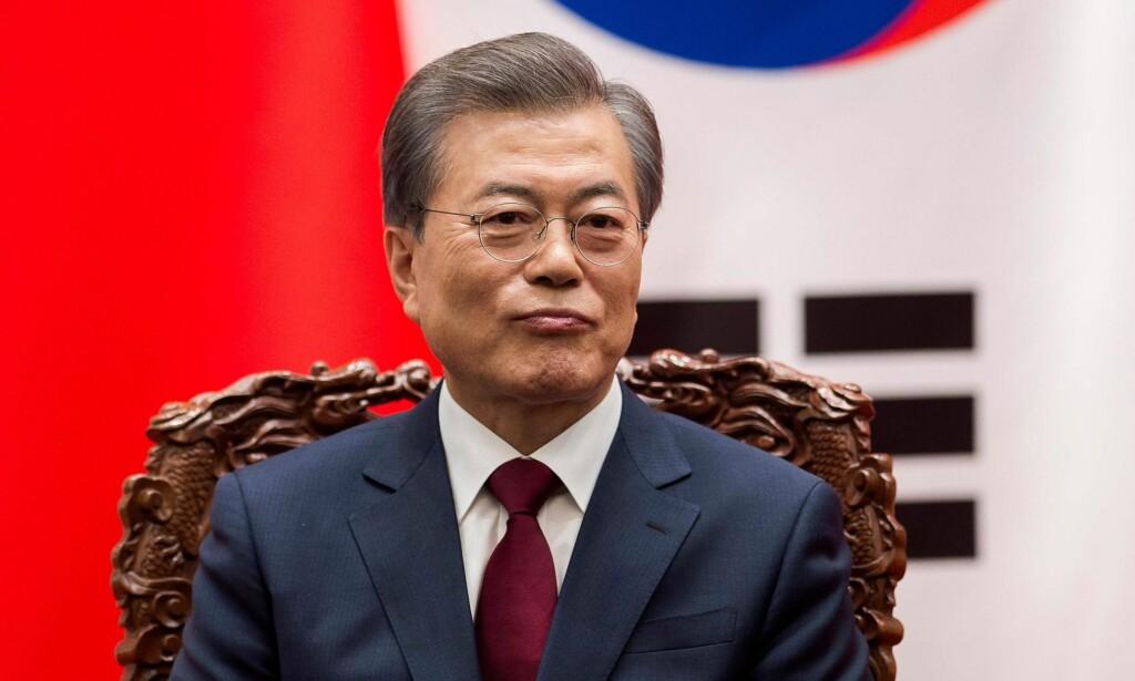OL-INVITASJON: Sør-Koreas president Moon Jae-in