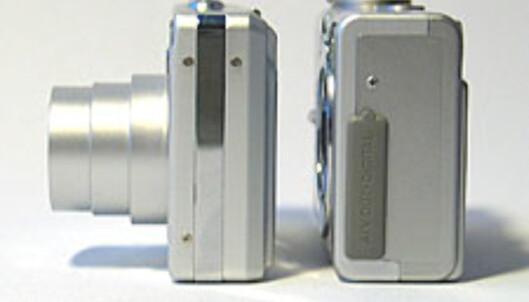 Exilim EX-Z4 er betydelig tynnere enn<br /> Canon Digital Ixus 400.
