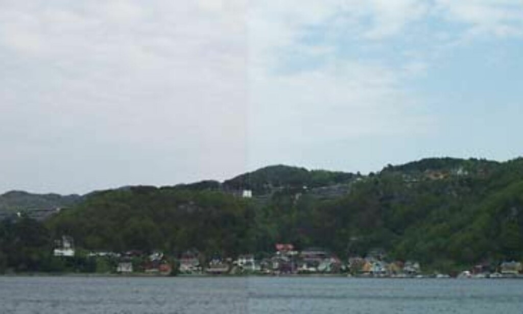 Venstre del av bildet er tatt med LS420, høyre med DX3500