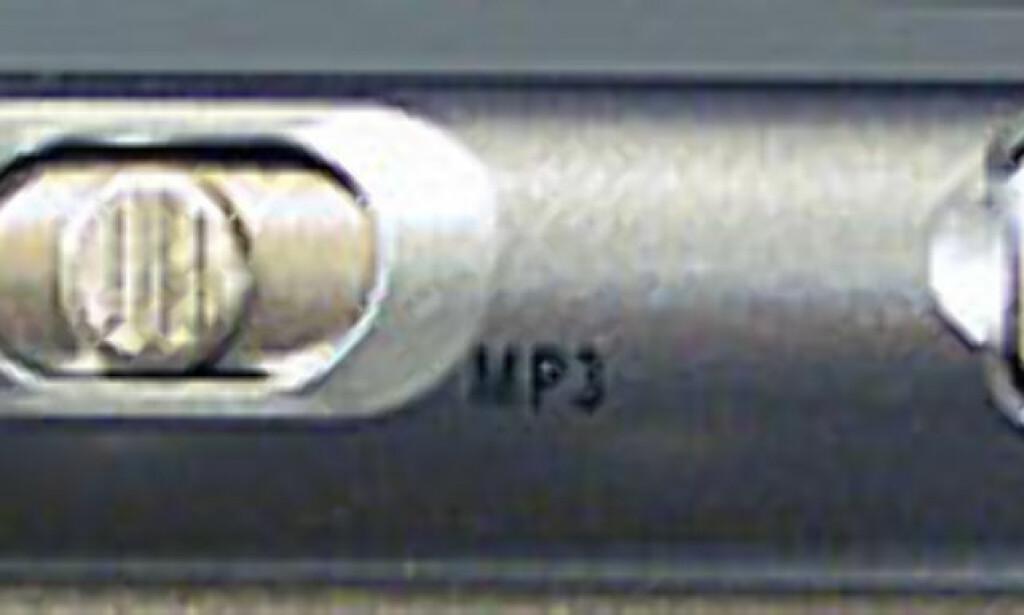 Knapper for MP3 og CD-avspilling uten at PCen er slått på, er tilgjengelig når lokket er igjen