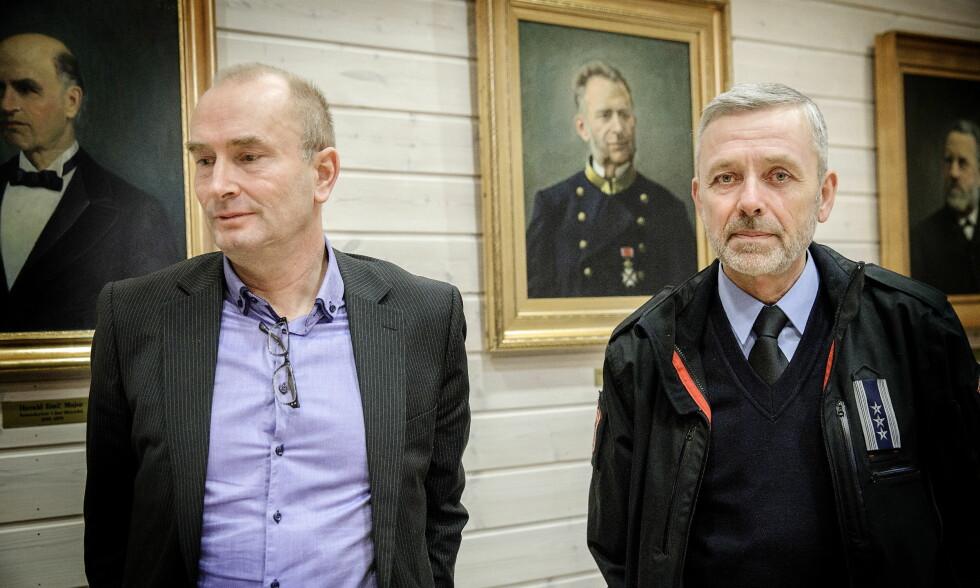 ANKER IKKE: Styreleder Sven-Inge Sunde og tidligere brannsjef Nils-Erik Haagenrud, her avbildet under rettssaken i januar. Foto: Nina Hansen / Dagbladet