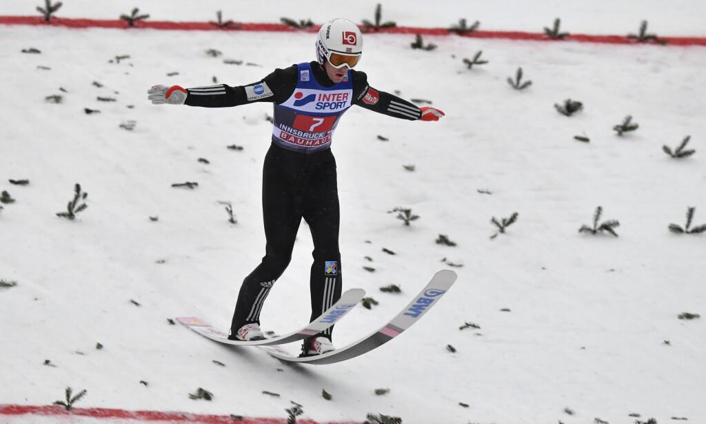 NUMMER TO: Daniel A. Tande ble nummer to i Innsbruck. Foto: AP Photo/Kerstin Joensson