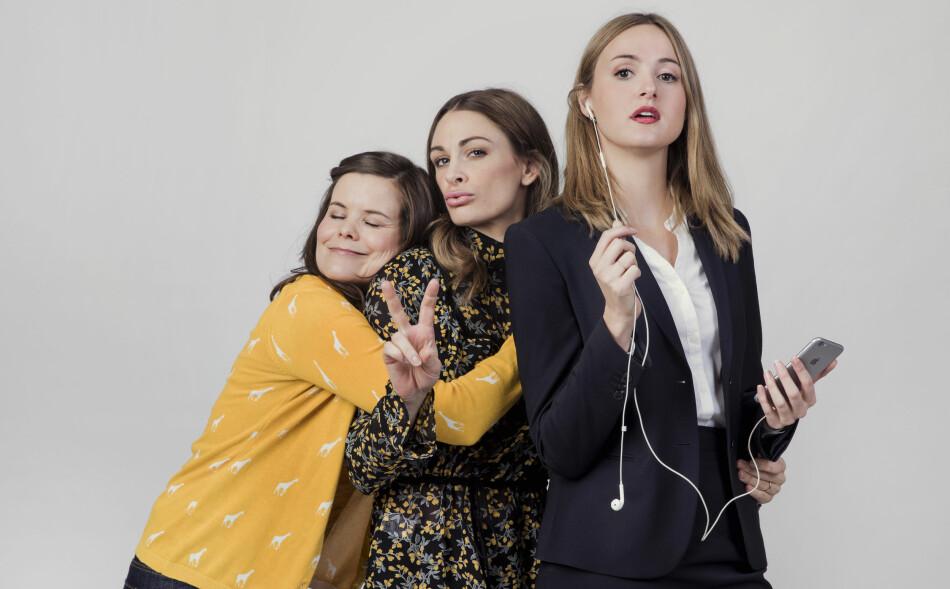 TRIO: Kjersti Tveterås, Jenny Skavlan og Renate Reinsve spiller venninner i serien. Nå kanseleres neste sesong. Foto: NRK