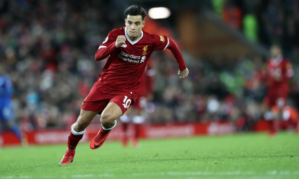 FORSVINNER? Liverpool kan miste Philippe Coutinho allerede i januar. Foto: Lynne Cameron/Sportimage via PA Images/NTB Scanpix