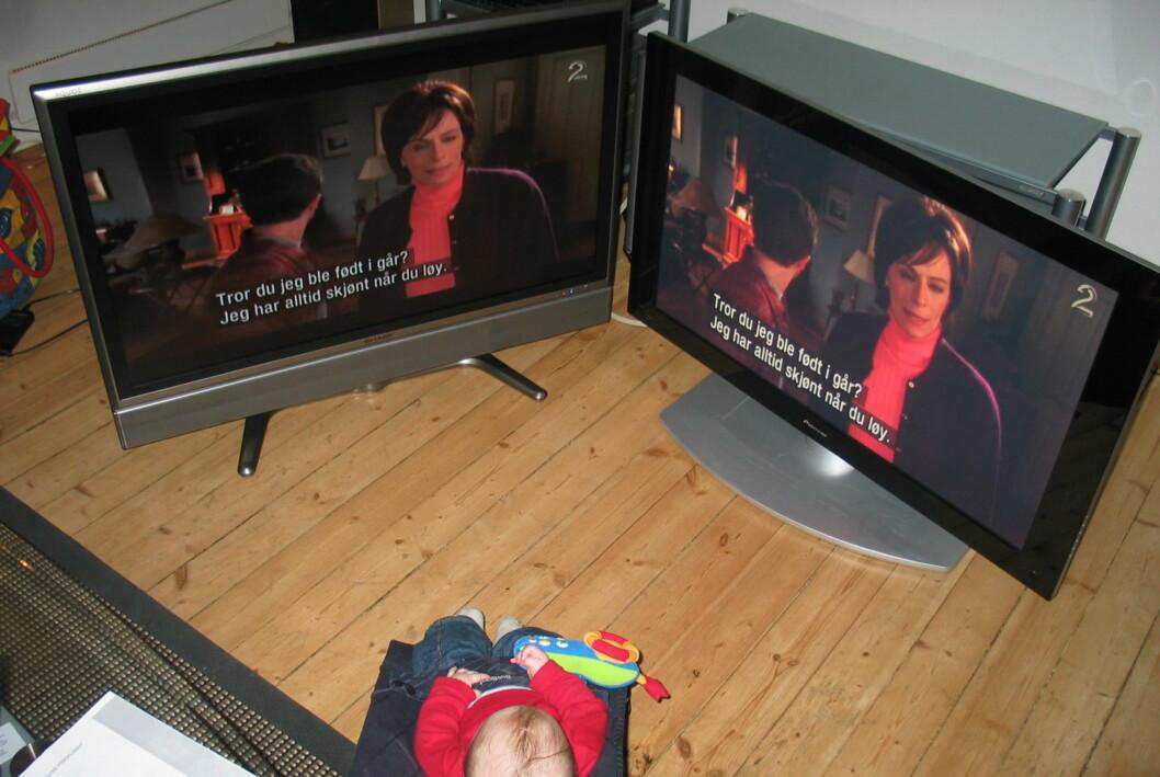 Å velge TV er et av de store spørsmålene i livet, både for liten og stor. Foto: ØP