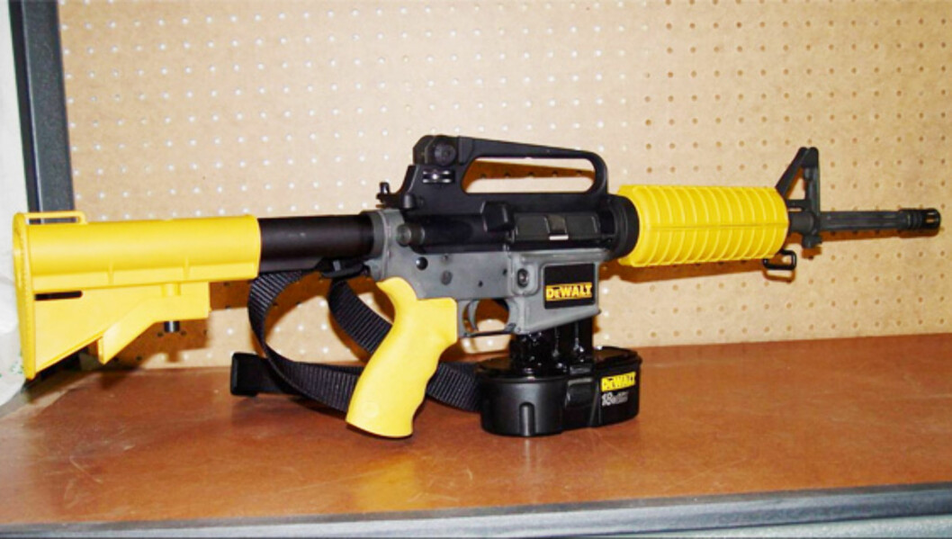 M16 spikerpistolen er overkill