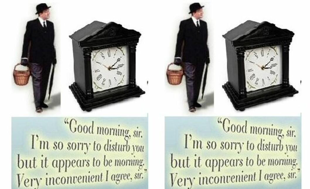 Butler Alarm Clock