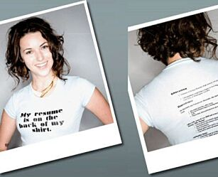 image: Custom Resume Tee