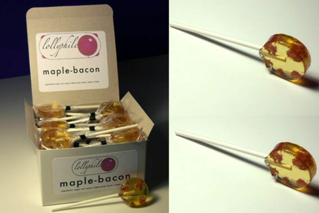 Maple-Bacon Lollipops
