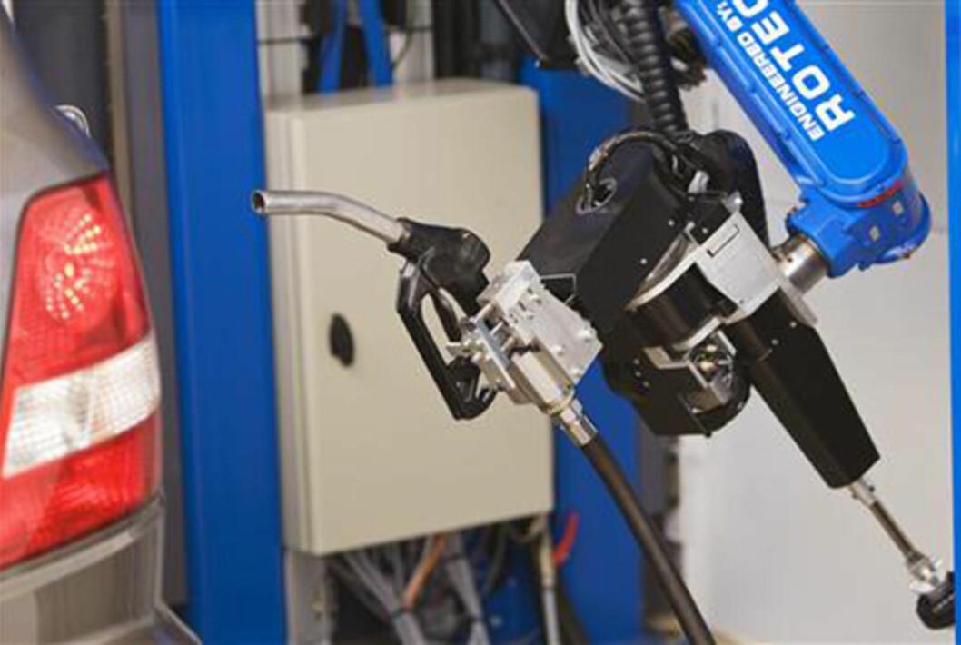 Tankpitstop er en bensinrobot