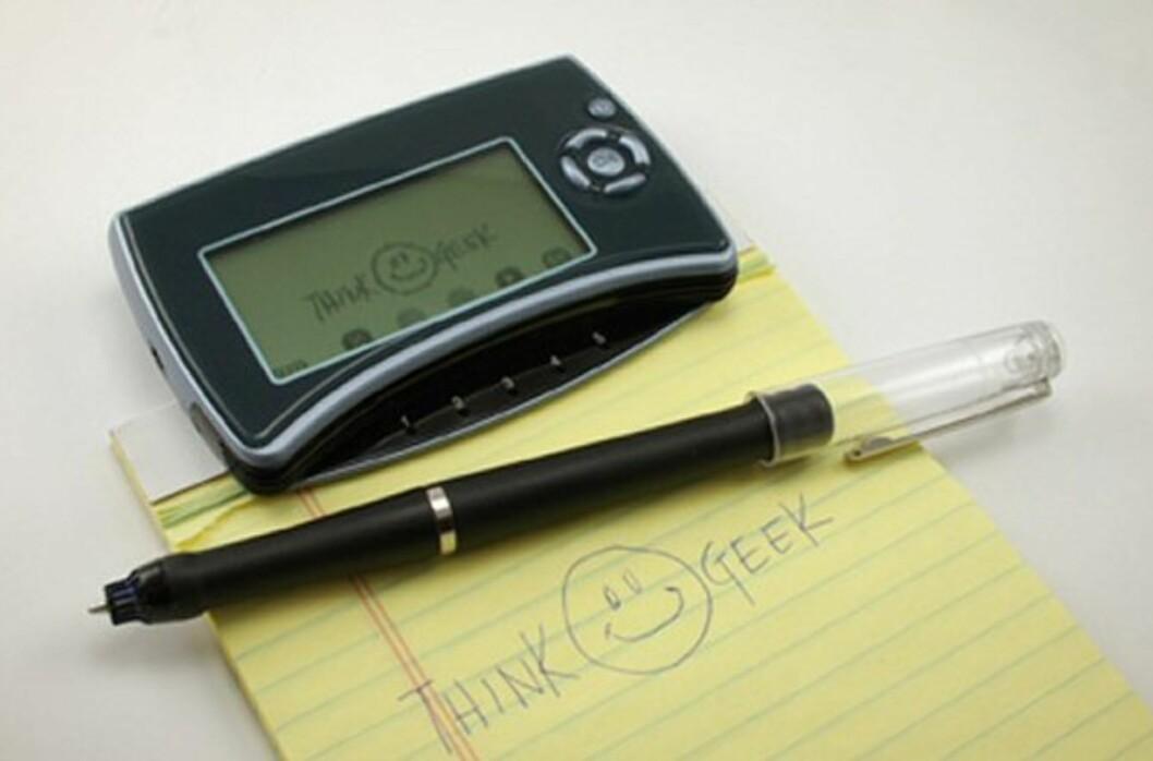 Mobile Notetaker lagrer notatene dine