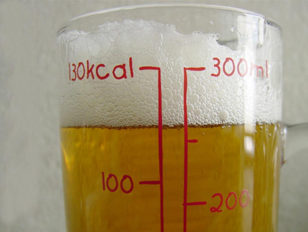 Kalori-glasset teller for deg