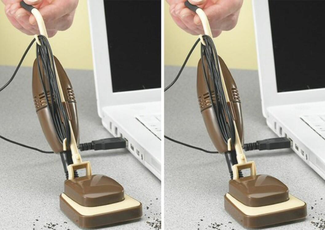 USB Desk Vacuum er liten