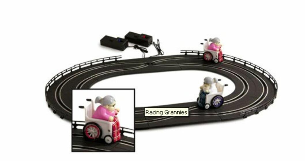 Racing Grannies har humor