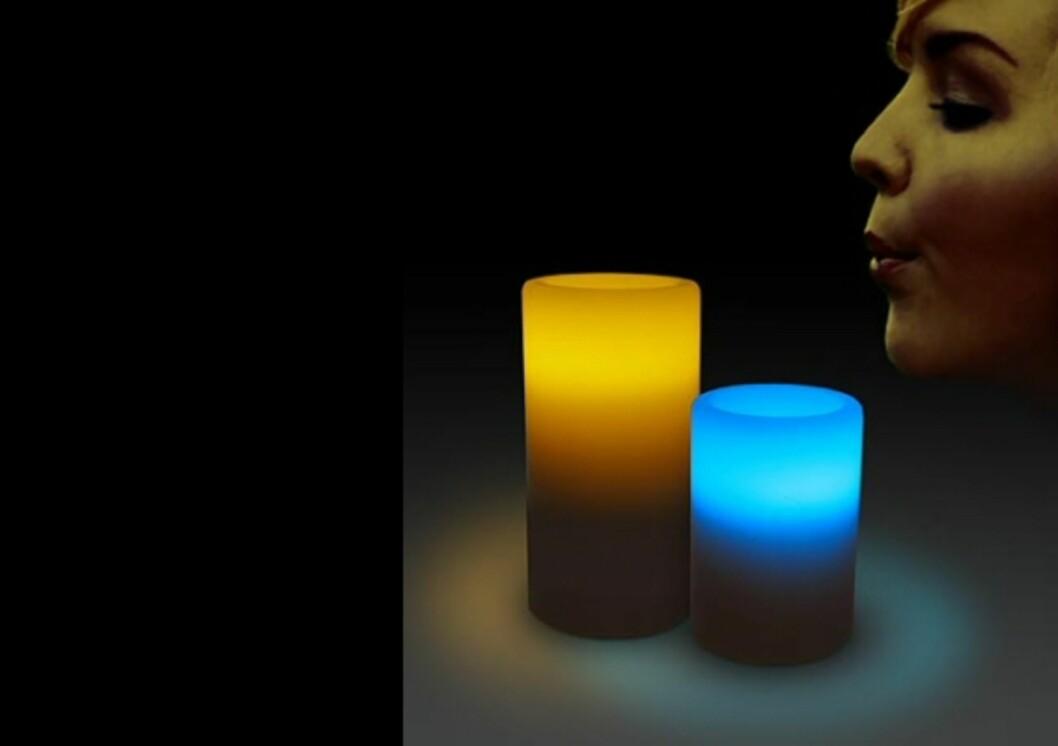 LED-lys med jukseflamme