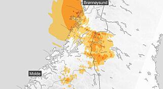 image: Ekstremværet Cora rammer Midt-Norge