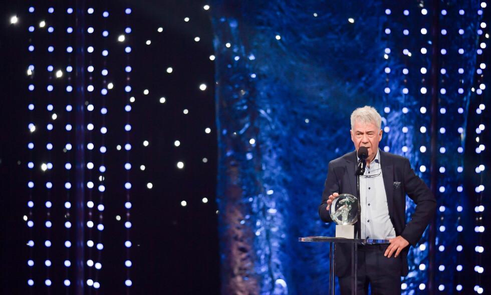 FIKK HEDERSPRIS: Egil Olsen vant hedersprisen under Idrettsgallaen. Foto: Bildbyrån