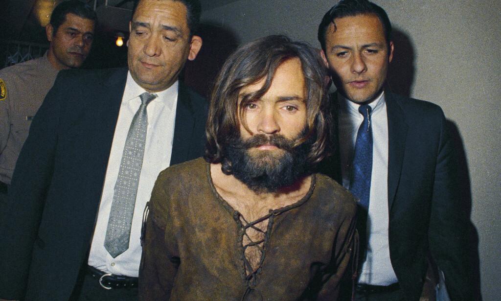 DØD: I november døde sektleder Charles Manson, og nå kommer en bitter strid om hvem som skal få arve Manson for retten. Foto: AP Photo / NTB scanpix