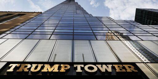 image: Brann på taket av Trump Tower