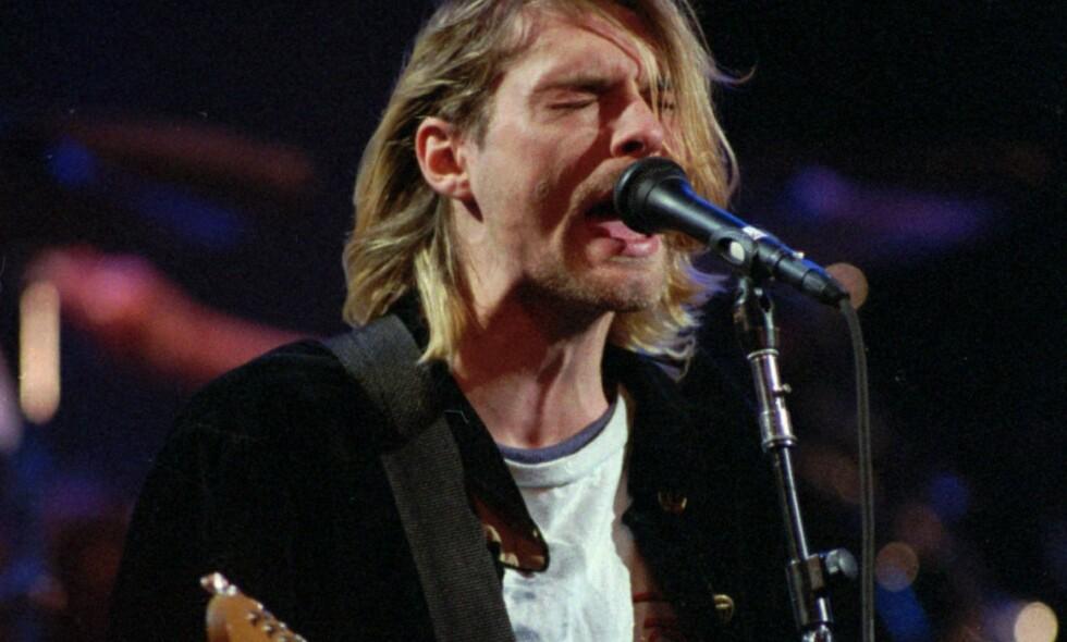 Rocka i -93: Gitarrocken har knapt hatt kulturell slagkraft siden Nirvana med Kurt Cobain. Foto: NTB scanpix