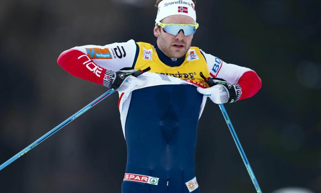 SLITER: Sjur Røthe er i dårlig form og står derfor trolig over NM. Skiløperen er i ferd med å gi opp drømmen om OL. Foto: Terje Pedersen / NTB scanpix