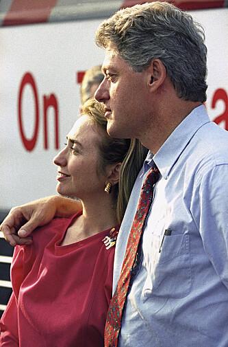 STILL GOING STRONG: Bill og Hillary avfotografert i 1992,