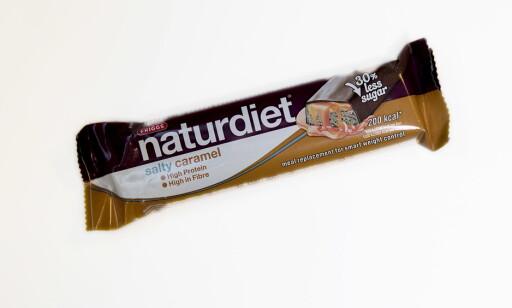 Naturdiet Salty caramel koster 20,90 kroner og har 200 kcal.