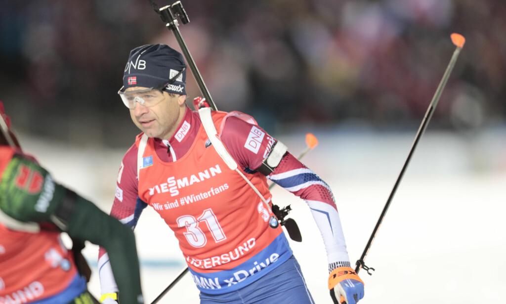 VRAKET: Ole Einar Bjørndalen får ikke gå stafetten i Ruhpolding fredag. Foto: Lise Åserud / NTB scanpix