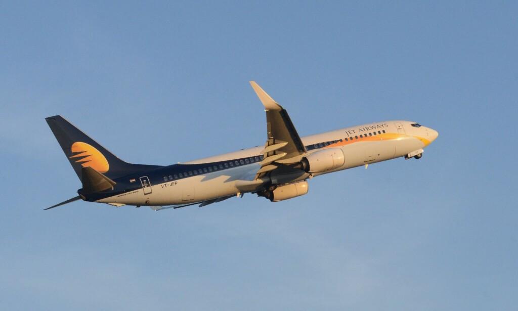 SPARKET ETTER KRANGEL: En mannlig pilot skal ha klappet til sin kvinnelige kollega under en Jet Airways-flight fra London til Mumbai 1. januar. Nå har begge pilotene fått sparken. Arkivfoto: NTB Scanpix