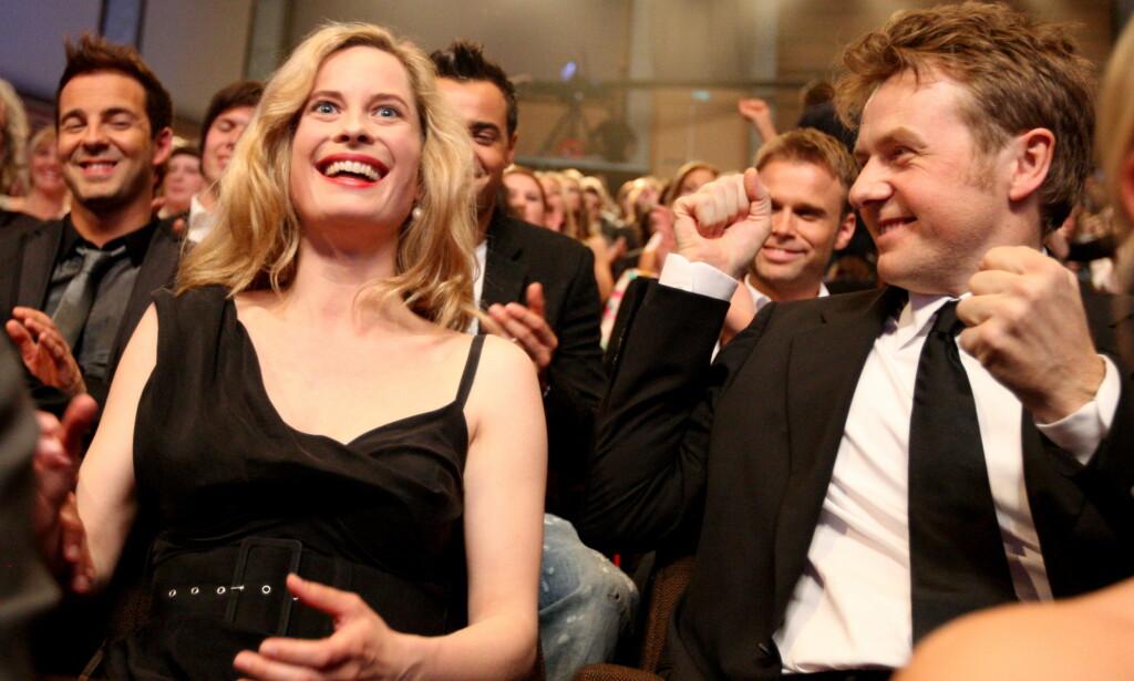 ROMANTISK: Fredrik Skavlan og Maria Bonnevie møtte hverandre for første gang på jobb. Foto: NTB scanpix