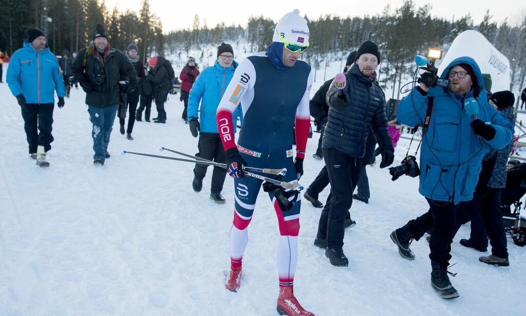 BLE SYK I PITEÅ: Petter Northug gikk tremila i skandinavisk cup i Piteå søndag, men ble syk etterpå. Foto: Frilans / NTB Scanpix