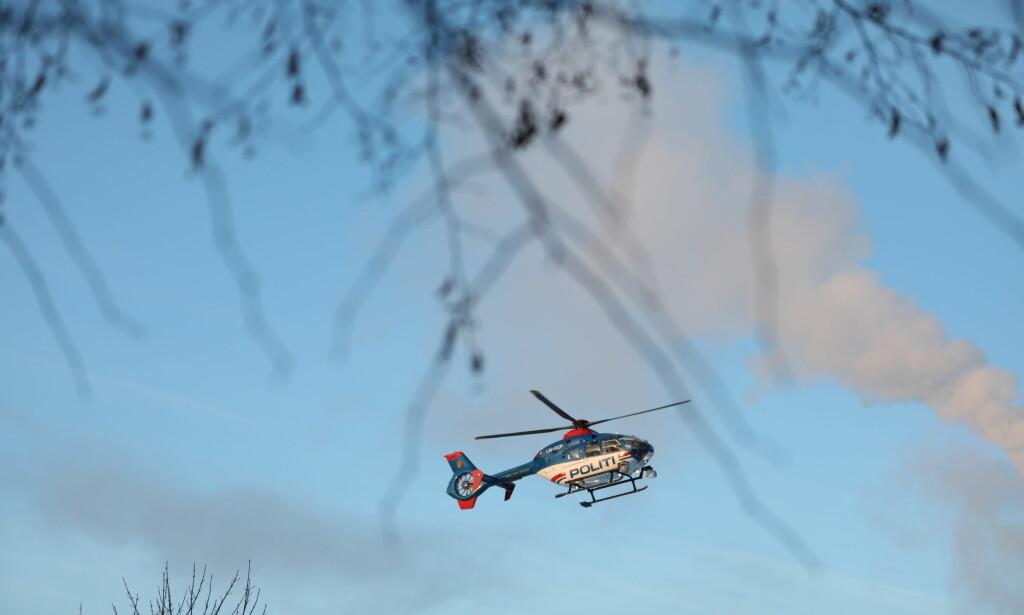 SØKEOMRÅDE: Politihelikopterets dekningsområde er stort. Foto: Christian Roth Christensen / Dagbladet