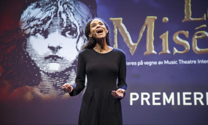 AKTUELL MED MUSIKAL: Haddy N'jie er for tiden aktuell med musikalen «Les Misérables» på Folketeateret i Oslo. Foto: Heiko Junge / NTB scanpix