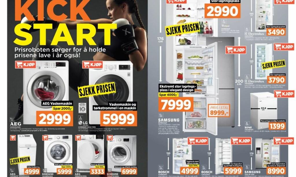 JANUARSALG: Butikkene lokker med det de hevder er sterkt nedsatte priser nå i januar. Foto: Power