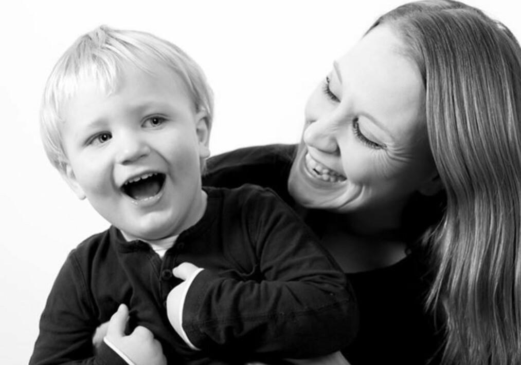 BARN MED AUTISME: For nesten tre år siden fikk Line og ektemannen Fredrik vite at deres eldste sønn Oscar (5) har barneautisme. FOTO: Nandita Myre Paulsen