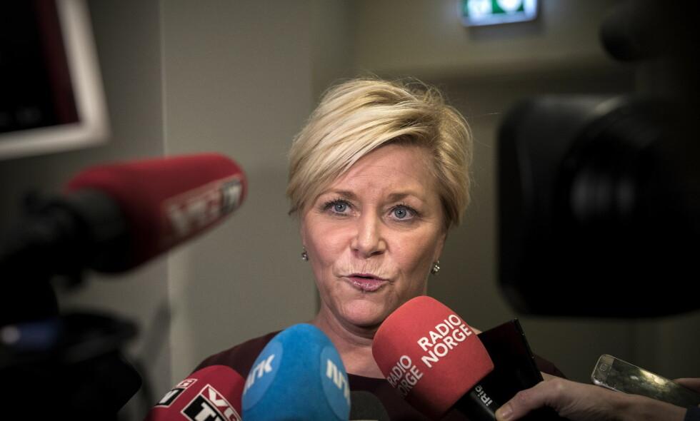 UTTALTE SEG OM LEIRSTEIN: Siv Jensen. Foto: Tomm Wilgaard Christiansen / Dagbladet