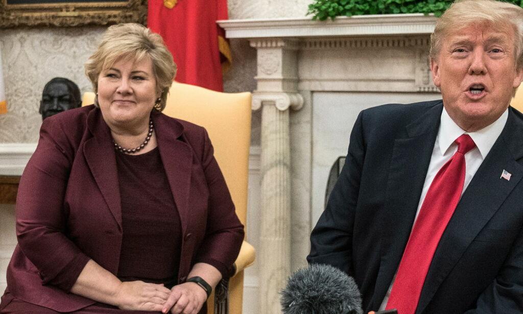 image: Trump får gjennomgå for feil om Norges jagerfly