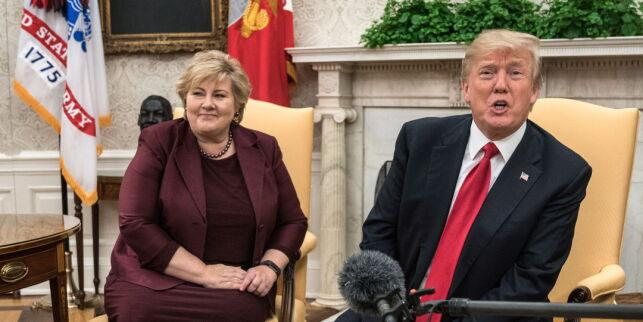 image: - Norge fikk det snilleste brevet fra Donald Trump