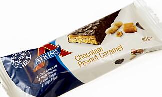 Atkins Snickers-alternativ koster 33,90 kroner og inneholder 235 kcal.