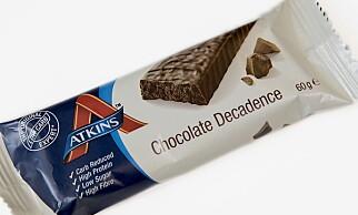 Atkins Chocolate Decadence koster 32,90 kroner og inneholder 391 kcal.