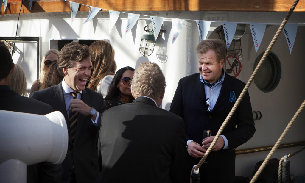 GÅR AV: Gunnar Bjørkavåg (til høyre) er konsernsjef i NHST, som blant annet eier Dagens Næringsliv og Morgenbladet. FOTO: Anders Grønneberg / Dagbladet