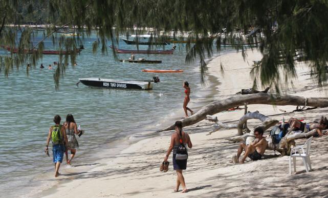 POPULÆRT: Mange turistier, også norske, drar til Koh Tao i Thailandbukta. Øya er blant annet kjent for ypperlige dykkeforhold. Foto: Chaiwat Subprasom / Reuters / NTB Scanpix