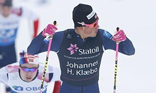 RÅSTERK: Johannes Høsflot Klæbo. Foto: Bjørn Langsem / Dagbladet