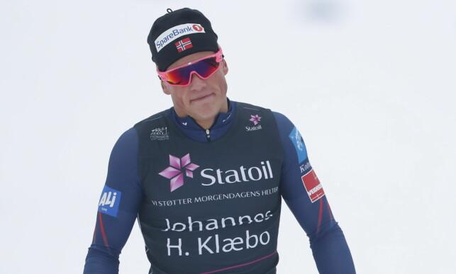 I FORM: Johannes Høsflot virket å ha mye krefter igjen til tross for en helt overlegen sprintseier. Foto: Bjørn Langsem / Dagbladet